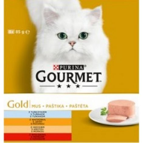Gourmet konzerva 8x85g gold paštika 94