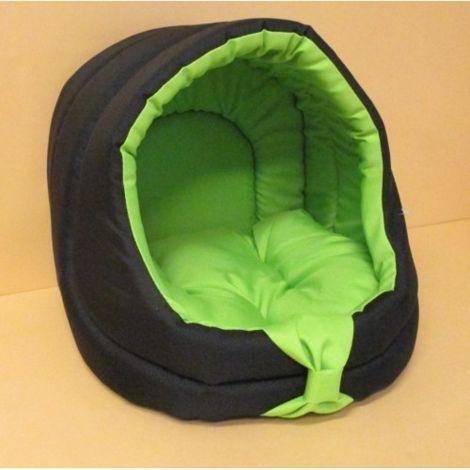 Bouda s pol.Basic Duo 33x33x32cm  černá+hráškově zelená