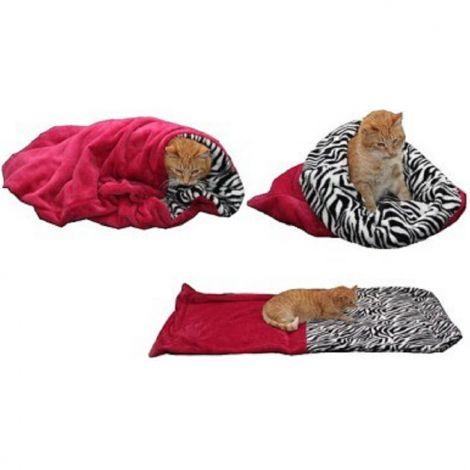 Spací pytel pro kočky XL-fuchsiová/kočky