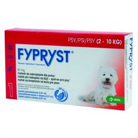 Fypryst spot-on dog S sol 1x0,67ml
