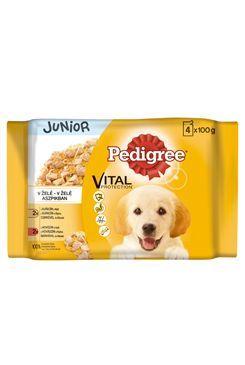 Pedigree kapsa Junior kuře+rýže/hov+rýže v želé 4x100g