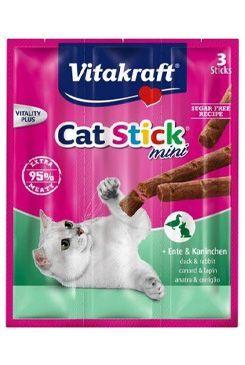 Vitakraft Cat pochoutka Stick mini  Rabb.+Duck. 3x6g