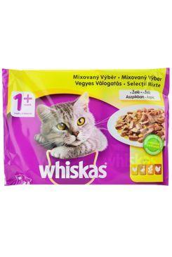 Whiskas kapsa Drůběží výběr v želé 4x100g