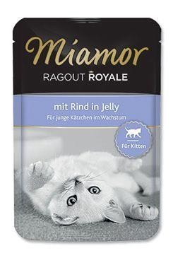 Miamor Cat Ragout Junior kapsa hovězí v želé 100g