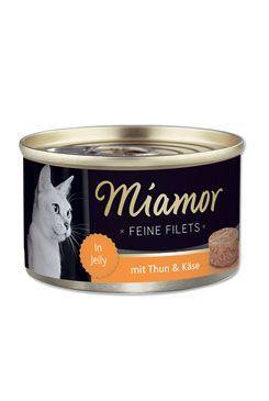 Miamor Cat Filet konzerva tuňák+sýr v želé 100g
