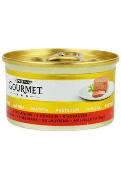 Gourmet Gold konz. kočka pašt. jemná s hovězím 85g