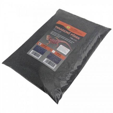 Terarijní písek černý 4kg jemný Robimaus