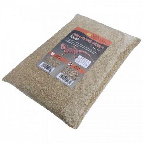 Terarijní písek žlutý 4kg hrubý Robimaus