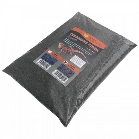 Terarijní písek černý 4kg hrubý Robimaus