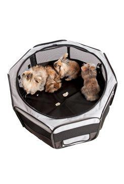 Box sklád. nylon štěně 92x92x43cm grey/black KAR