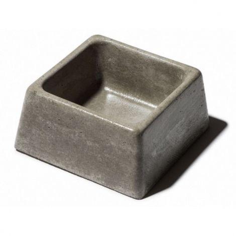Miska beton č. 84 0,6l čtvercová šedá