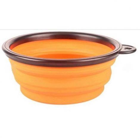 Miska cestovní silikonová skládací - oranžová 0,38l/ B+F