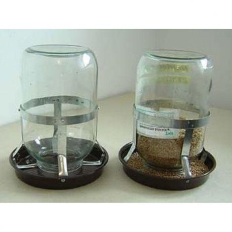 Napáječka plastová na okurkovou sklenici