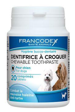 Francodex Žvýkací zubní pasta v tabletách pes 20tbl