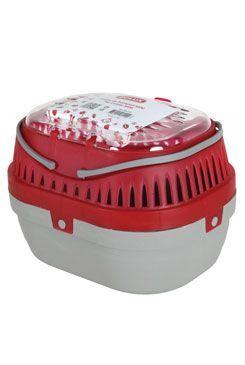 Přepravka pro hlodavce S šedá/červená 17x23x16cm Zolux