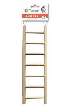 Hračka pro exoty žebřík dřevo 28cm ,7stupňů