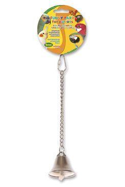 Hračka pro exoty zvonek kovový 25cm
