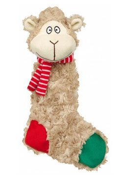 Vánoční Hračka pes Ovce šustící plyš 32cm TR 1ks