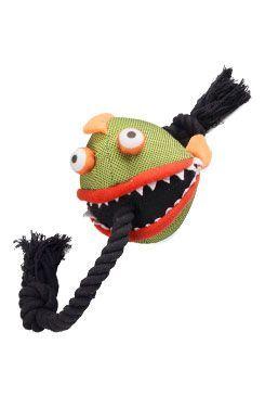 Hračka pes Veselá piraňa s provazem 59cm KAR