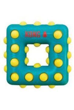 Hračka pes KONG Dotz čtverec S