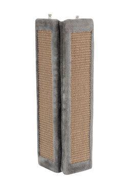 Škrabadlo na stěnu rohové šedá 58cm Zolux