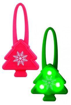 Vánoční Stromeček blikátko silikon mix 7cm TR 1ks